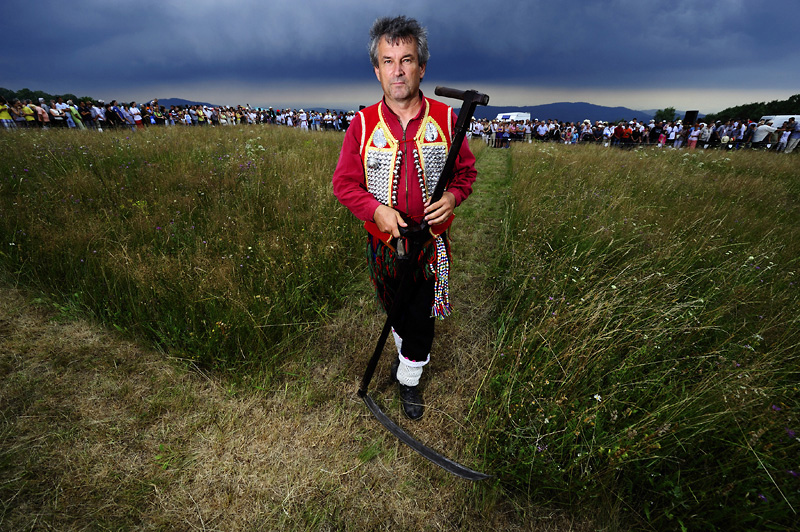 Haymaking competition on the Rajac mountain - Rajac, Serbia, 201
