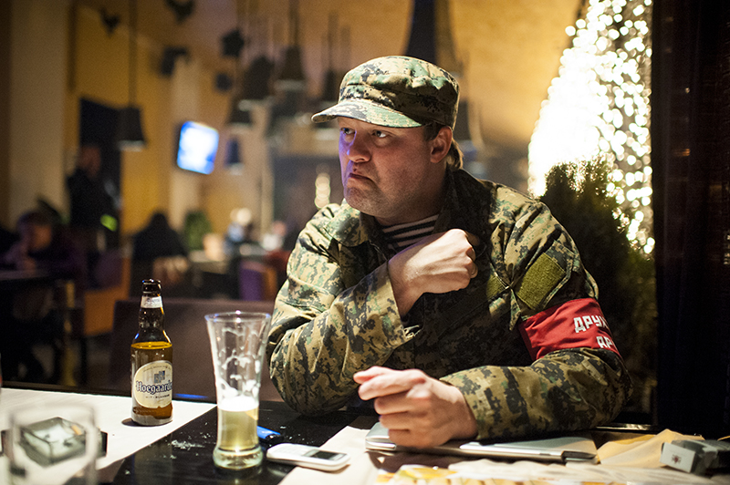 """I am a warrior. Combatant"" - says Igor Grebtsov, member of Crimean self-defense unit, former soldier and former journalist from Yekaterinburg. At home, he left his wife and son and came to the Crimea because he felt obliged to do so."